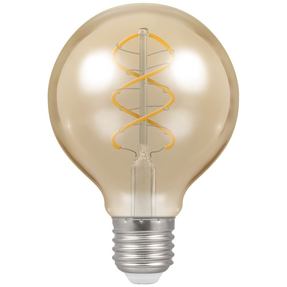 6621 - LED G80 Spiral Filament Antique 6W Dimmable 2200K ES