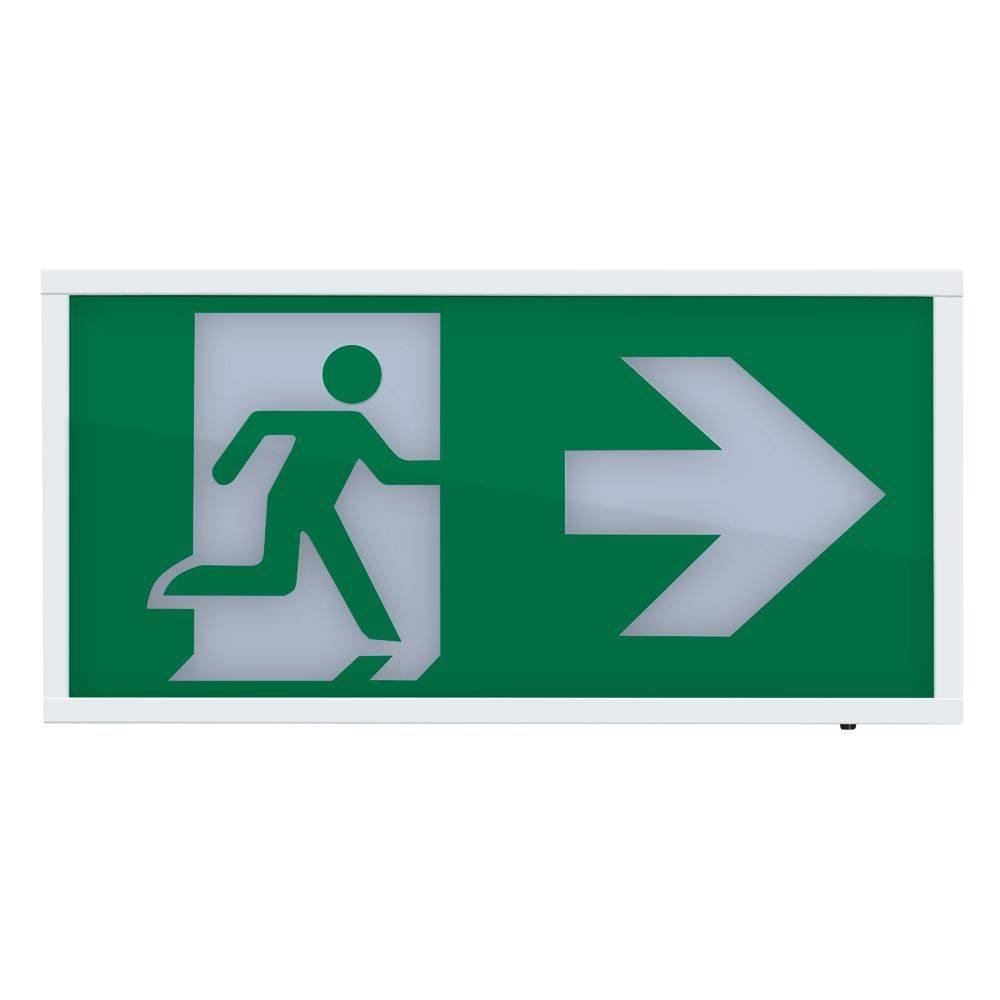 Krios • LED Emergency Wall Box Legend - Arrow Right