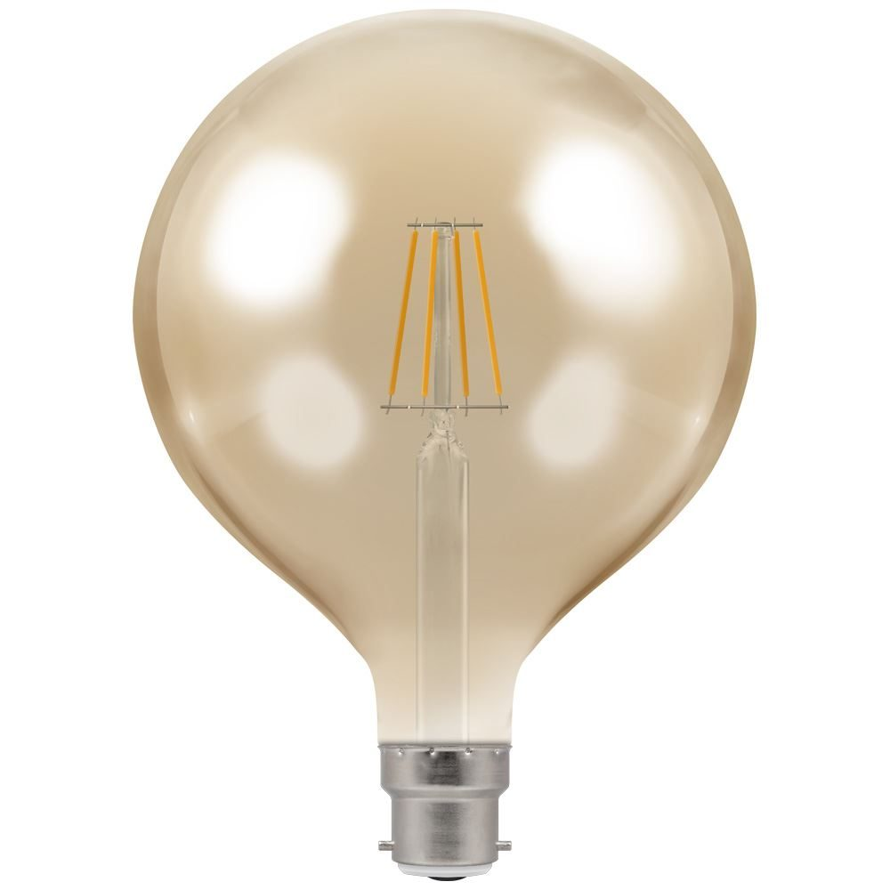 4306 - LED Globe G125 Filament Antique 7.5W Dimmable 2200K BC-B22d