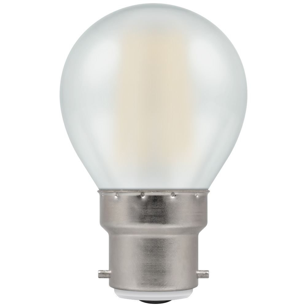 7253 - LED Round Filament Pearl 5W Dimmable 2700K BC-B22d
