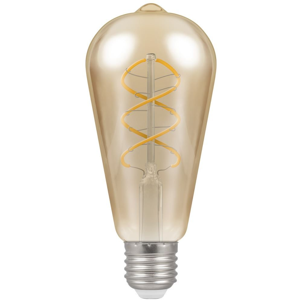 6607 - LED ST64 Spiral Filament Antique 6W Dimmable 2200K ES