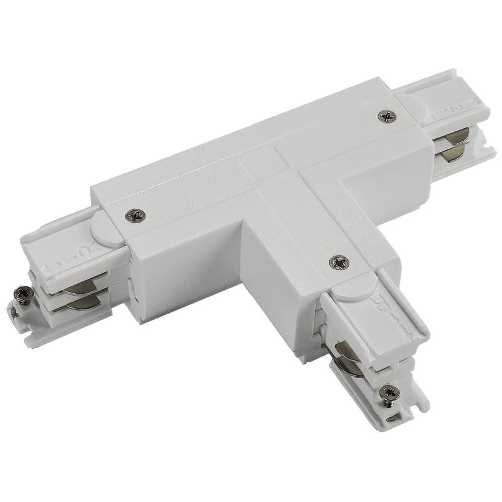 10765 - T Coupler Left Outside For 3 Circuit Track White