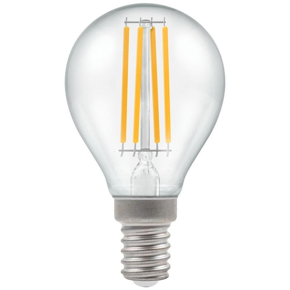 12813 - LED Round Filament Clear 6.5W 2700K SES-E14