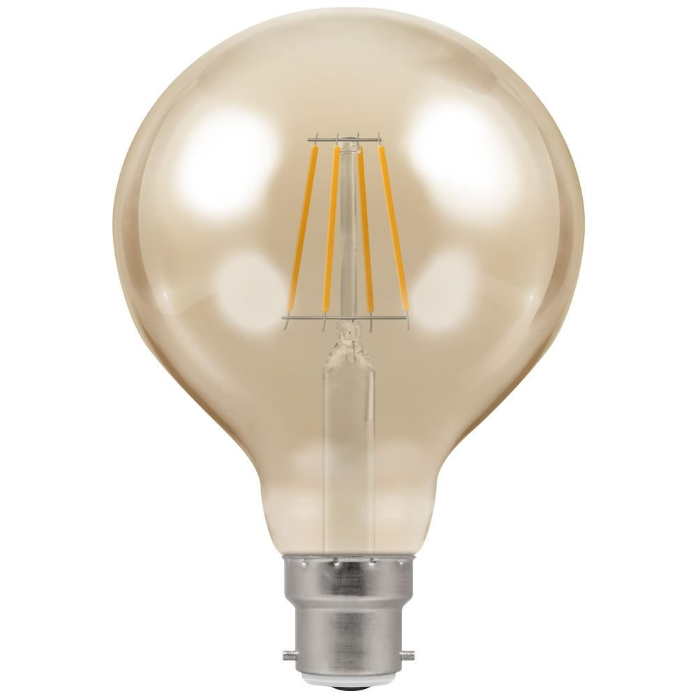 4283 - LED Globe G95 Filament Antique 5W Dimmable 2200K BC-B22d