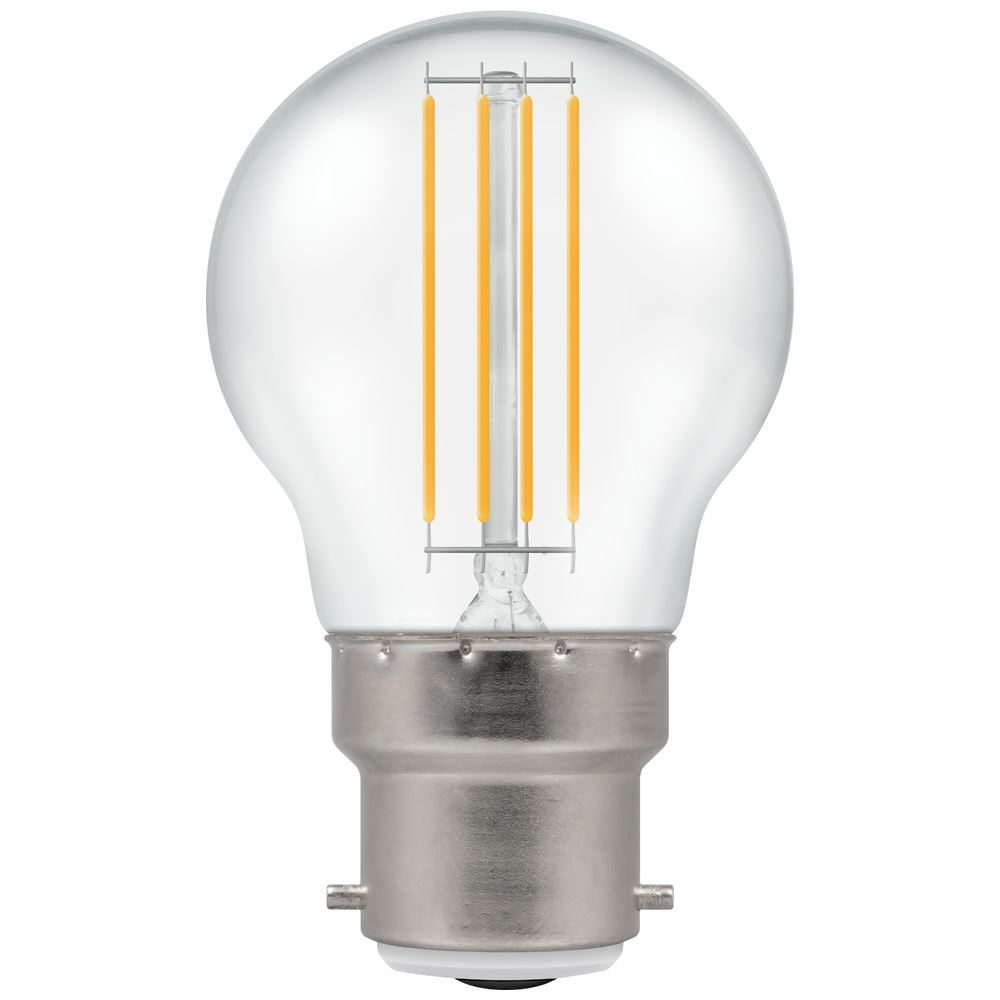 LED Filament Round 4W BC-B22d Clear Cool White