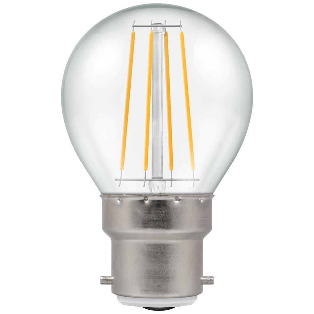 7215 - LED Round Filament Clear 5W Dimmable 2700K BC-B22d