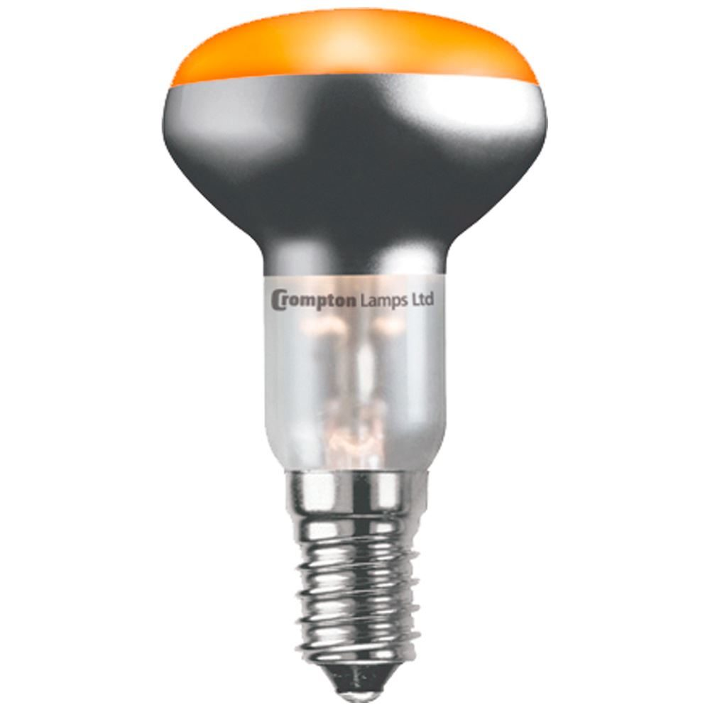 R5025ASES - Coloured R50 Reflector 25W Amber SES-E14