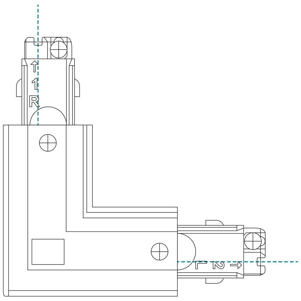 10727 - Left Coupler For 3 Circuit Track White