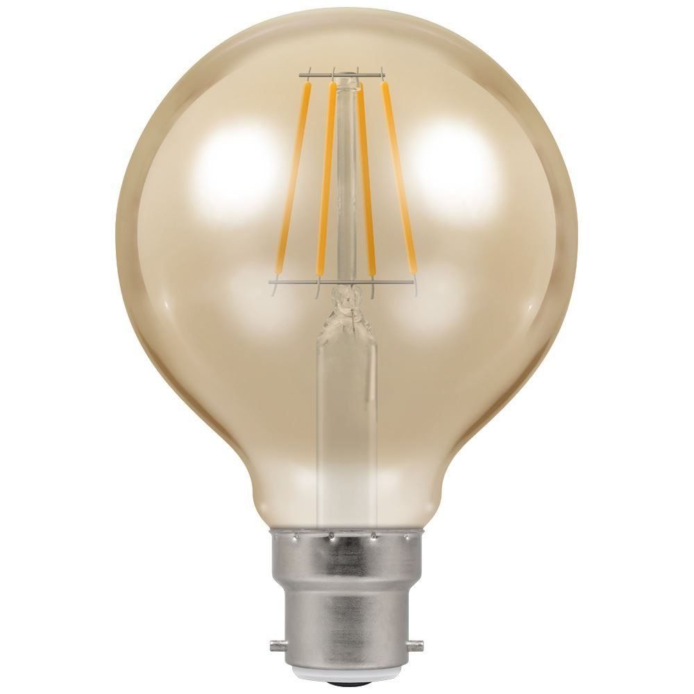 4269 - LED Globe G80 Filament Antique 5W Dimmable 2200K BC-B22d