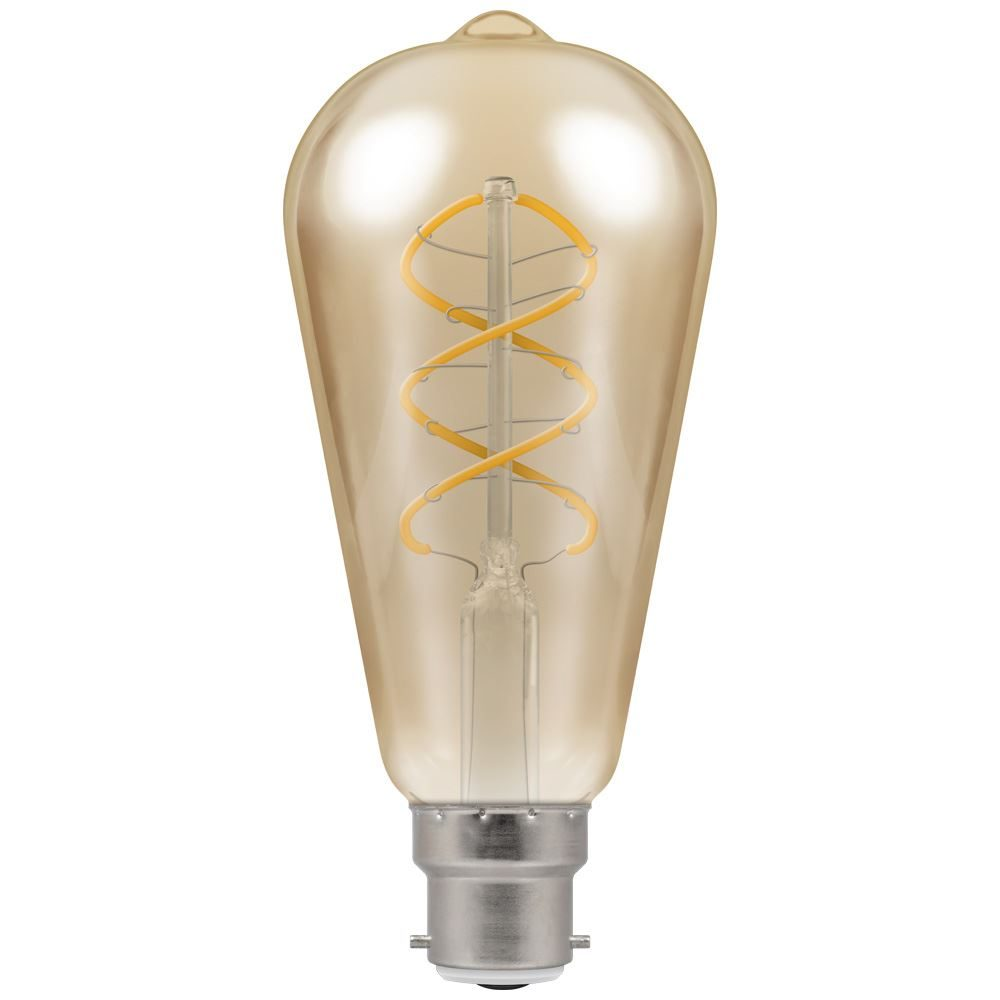 6591 - LED ST64 Spiral Filament Antique 6W Dimmable 2200K BC