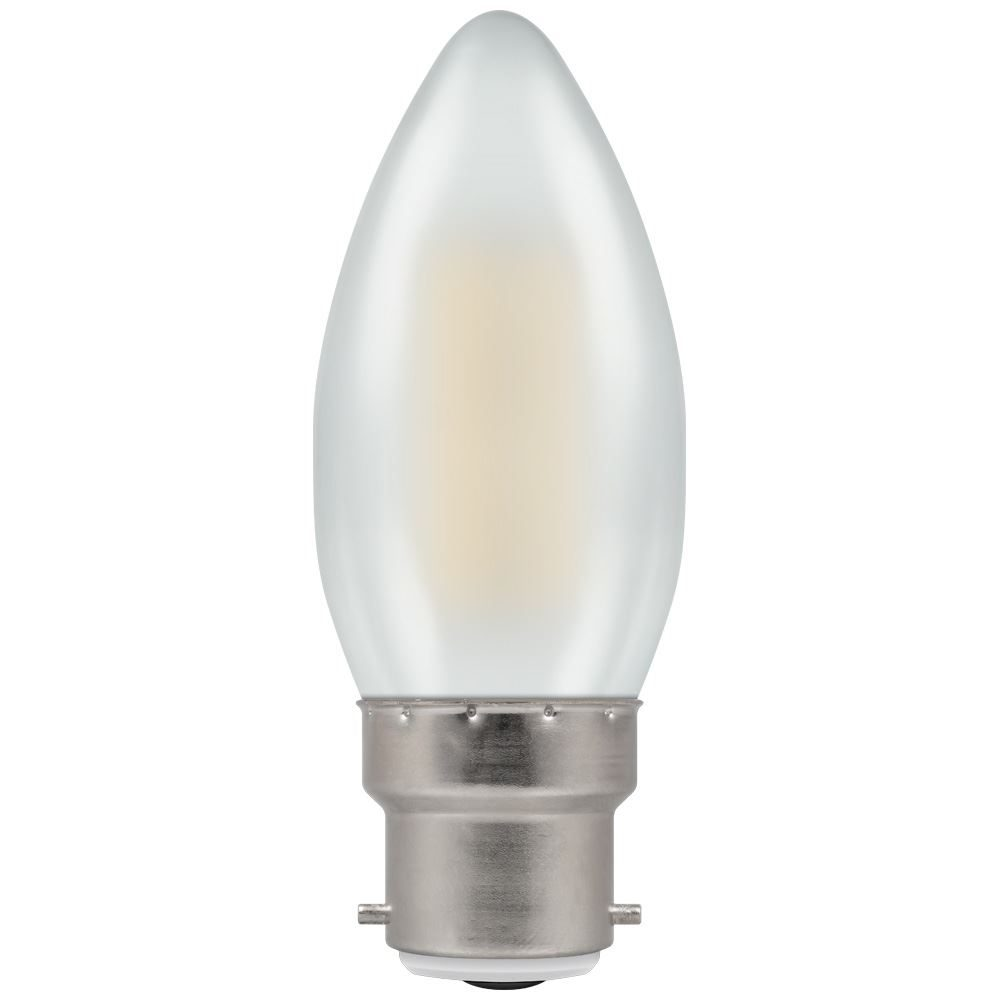7178 - LED Candle Filament Pearl 5W Dimmable 2700K BC-B22d