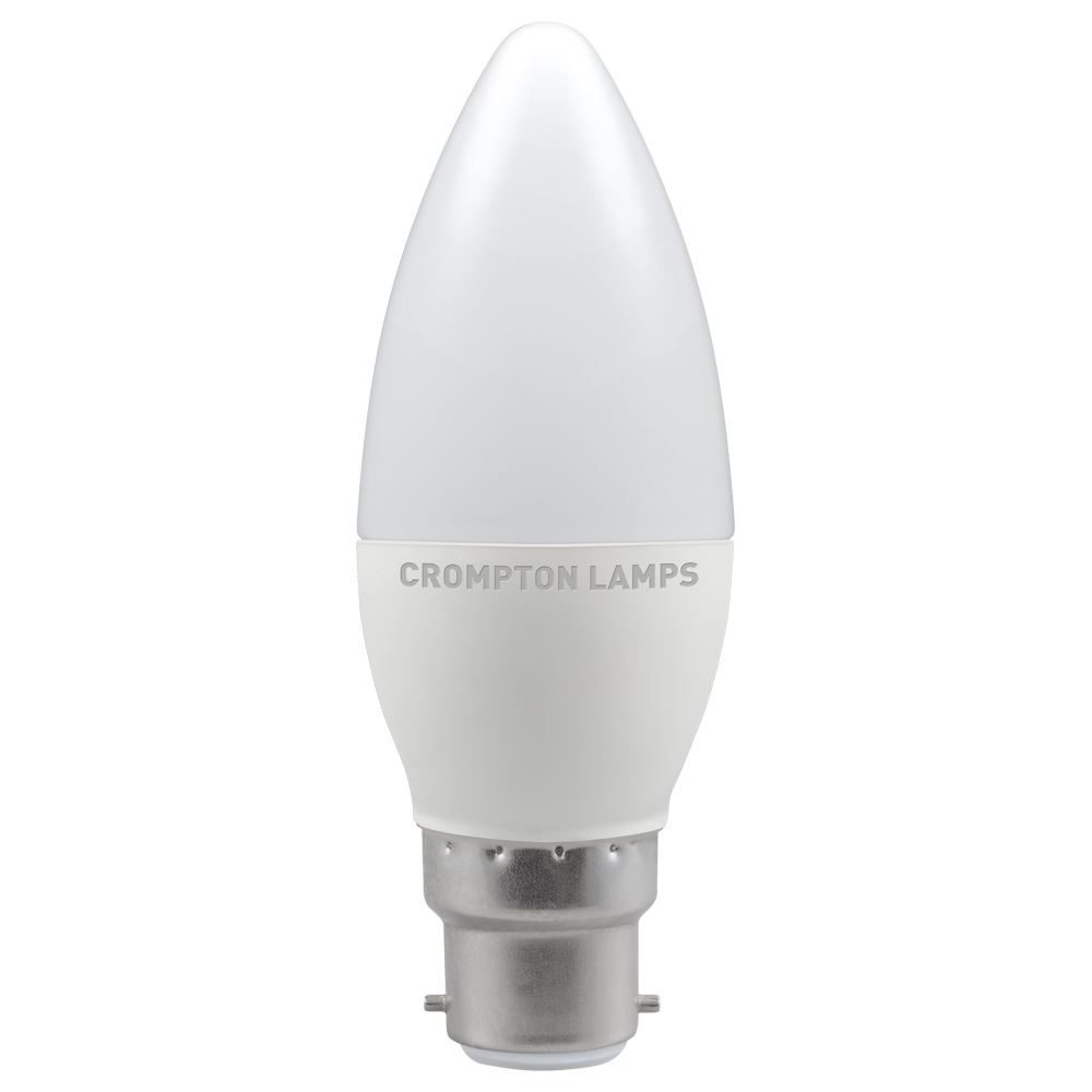 LED Thermal Plastic Candle 5W 2700K Dimmable BC-B22d