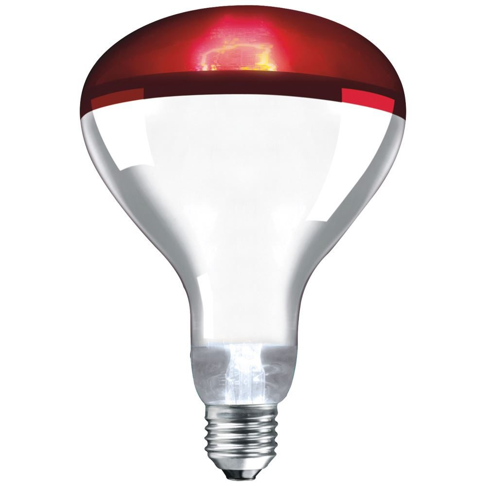 Infra Red Reflector Ruby 250W ES-E27-IR250RES