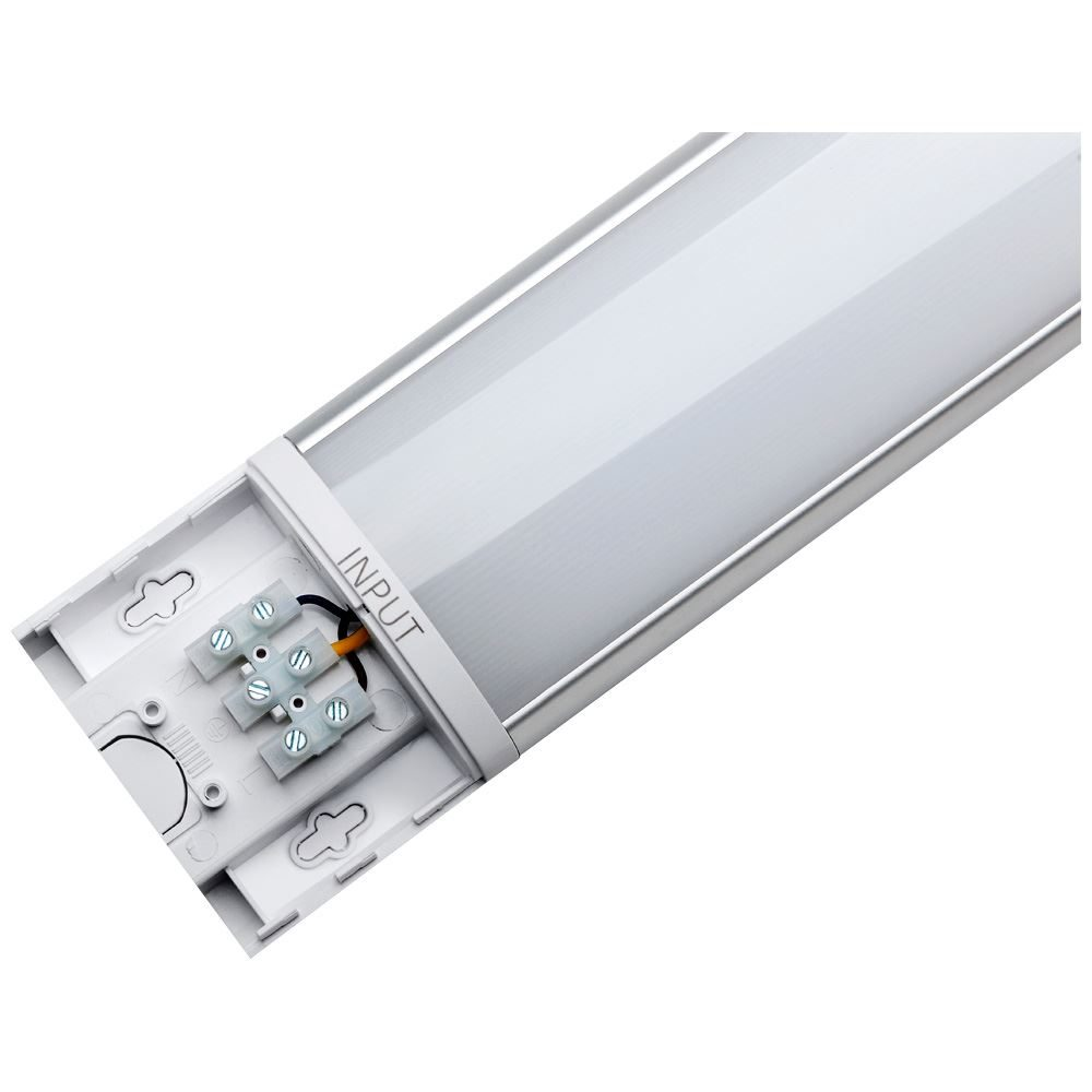 12226 - Photius Integrated 1200mm Linear MW Batten 40W Tri-Colour Select