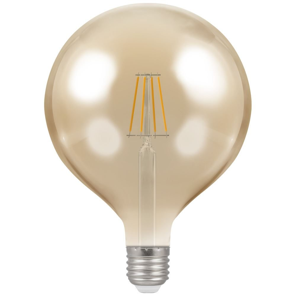 4313 - LED Globe G125 Filament Antique 7.5W Dimmable 2200K ES-E27