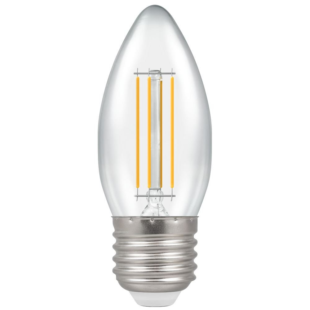 6157 - LED Candle Filament Clear 4W 2700K ES-E27